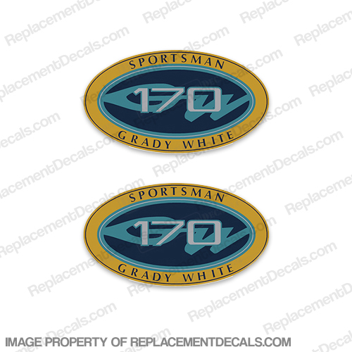 Grady White Sportsman 170 Logo Decals (Set of 2)