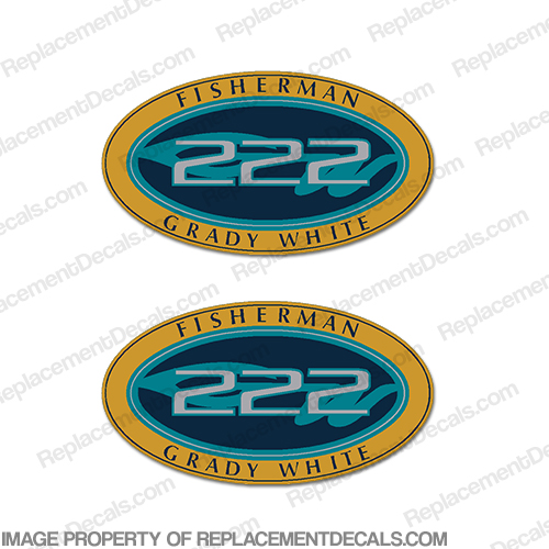 Grady White Fisherman 222 Logo Decals (Set of 2)