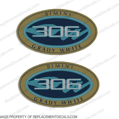 Grady White Bimini 306 Logo Decals (Set of 2)