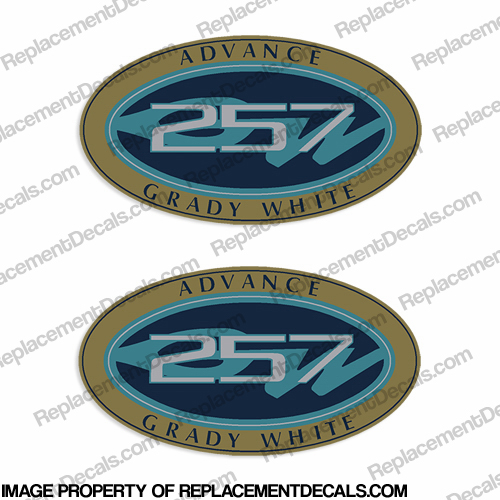 Grady White Advance 257 Logo Decals (Set of 2)