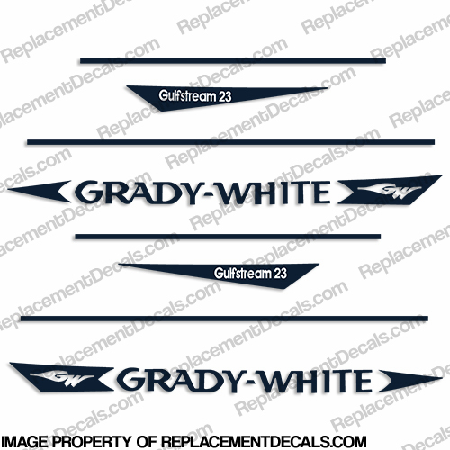 Grady White GulfStream 23 Decal Kit