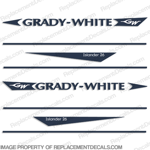 Grady White Islander 26 Decal Kit