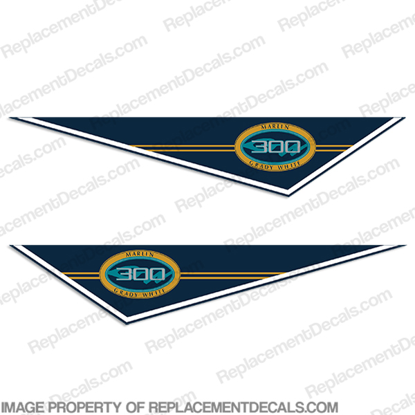 Grady White Marlin 300 Pendant Decals