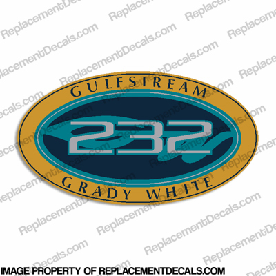 Grady White Gulfstream 232 Logo Decals (Set of 2)
