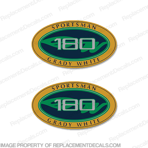 Grady White Sportsman 180 Logo Decals (Set of 2)