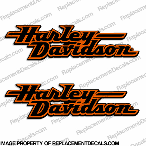 Harley-Davidson Fuel Tank Motorcycle Decals (Set of 2) - Style 2 harley, davidson, style, 2, two,