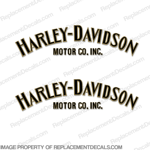 Harley-Davidson Fuel Tank Decals (Set of 2) - Style 1 - Any Color style 1, style, 1