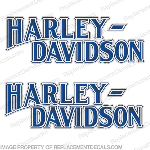 Harley-Davidson FXS Tank Decals  RED / GOLD or BLUE / WHITE - 1987-1988  (Set of 2) Harley, Davidson, Harley Davidson, soft, tail, harley-davidson, fxs, 87, 88, 1987, 1988, 1979, 79