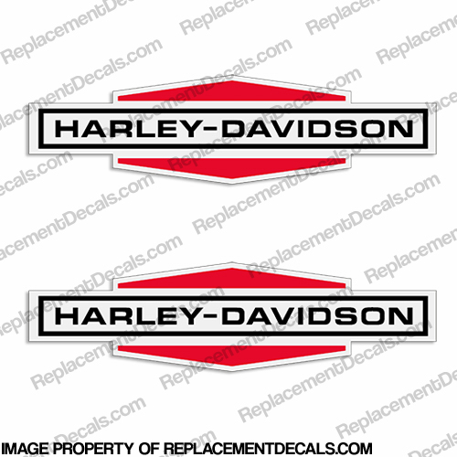 Harley-Davidson Racing Gas Tank Decals - 1969 (Set of 2)