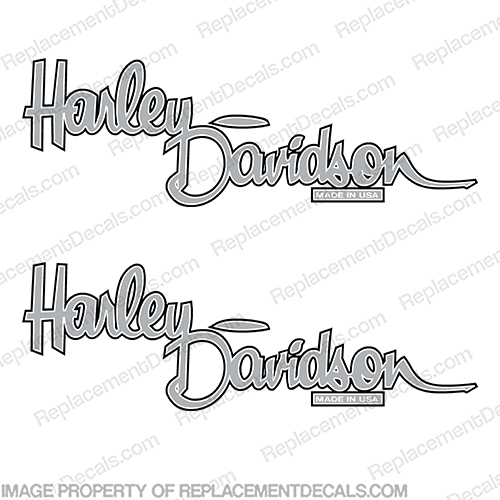 Harley-Davidson Fuel Tank Motorcycle Decals (Set of 2) - Style 13 harley davidson, harley, davidson