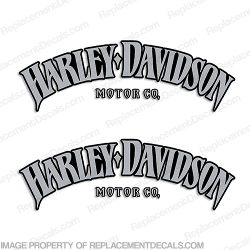 Harley-Davidson Fuel Tank Motorcycle Decals (Set of 2) - Style 7 - HAR-F-TNK-ST7