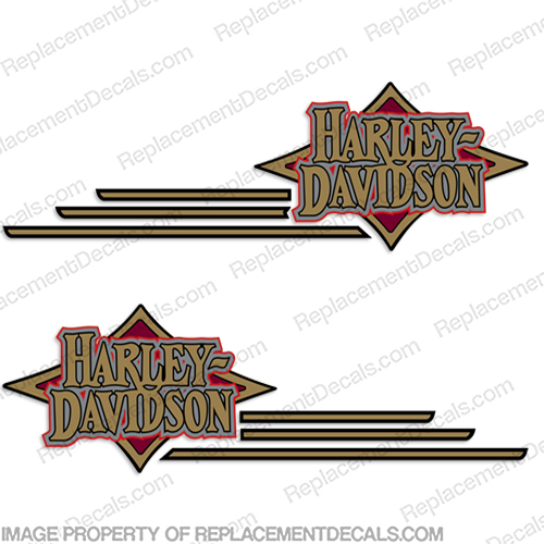 Harley-Davidson Softail Decals (Set of 2) - 1997 custom Harley, Davidson, Harley Davidson, soft, tail, 1996, 96, softtail, soft-tail, harley-davidson, fuel, gas, tank, decal, sticker