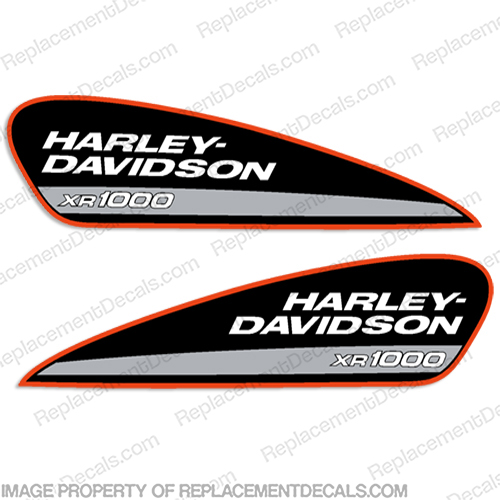 Harley-Davidson XR1000 Fuel Tank Motorcycle Decals (Set of 2) xr 1200, harley davidson, xr 1000, xr1000, xr 1000