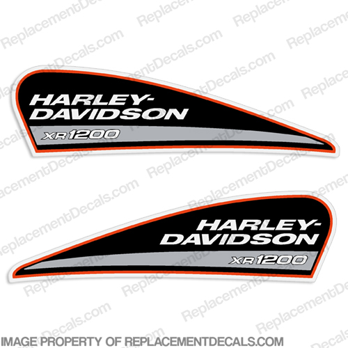 Harley-Davidson XR1200 Fuel Tank Motorcycle Decals (Set of 2) xr 1200, harley davidson