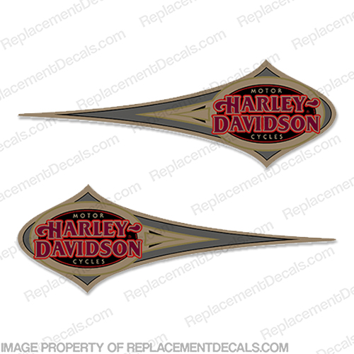 Harley-Davidson Heritage Softail Decals (Set of 2) - 1996 Harley, Davidson, Harley Davidson, soft, tail, 1996, 96, softtail, soft-tail, harley-davidson