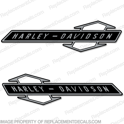 Harley Davidson Fuel Tank Decals (Set of 2) - Style 19 Harley, Davidson, Harley Davidson, nine, teen, nineteen
