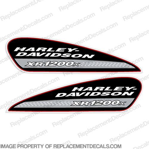 Harley-Davidson XR1200X Fuel Tank Motorcycle Decals (Set of 2) xr 1200, harley davidson, xr 1200 x, xr1200 x, xr 1200x