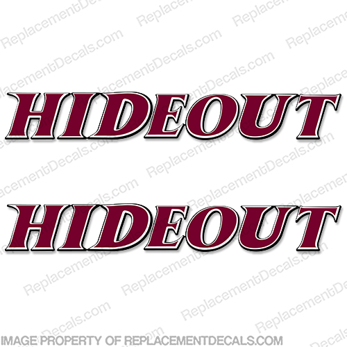 Hideout by Keystone Hornet RV Decals Style 3 (Set of 2) - Pick Color!