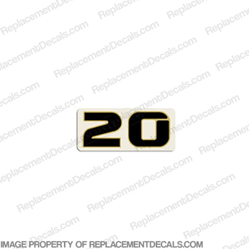 "Honda Single ""20"" Decal"