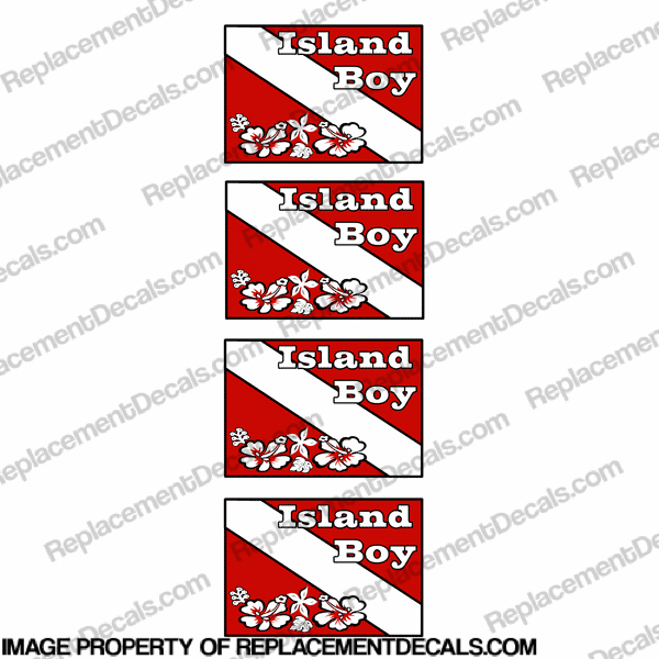 Flag - Island Boy Dive Decal