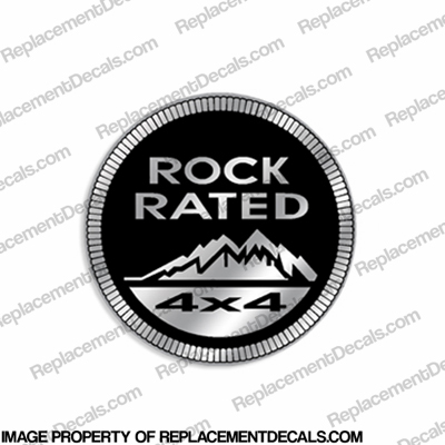 "Jeep ""Rock Rated 4x4"" Decal"