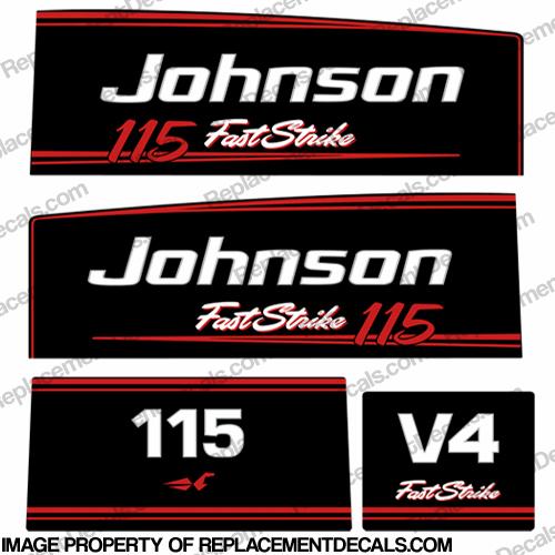 Johnson 115hp V4 Fast Strike Decals