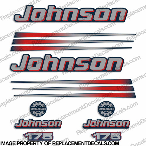Johnson 175hp Decals (Blue Cowl) 2002 - 2006