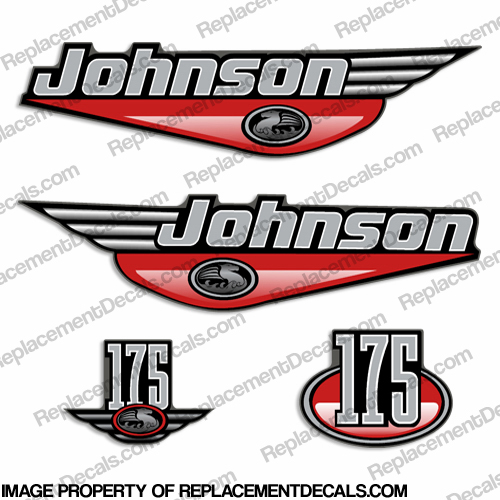 Johnson 175hp Decals (Red)