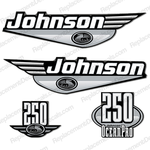 Johnson 250hp OceanPro Decals - You Choose Color! ocean, pro, ocean pro, ocean-pro