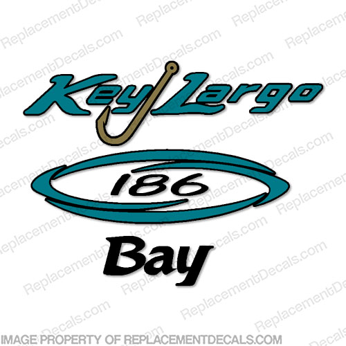 Key Largo 186 Bay Center Console Decal