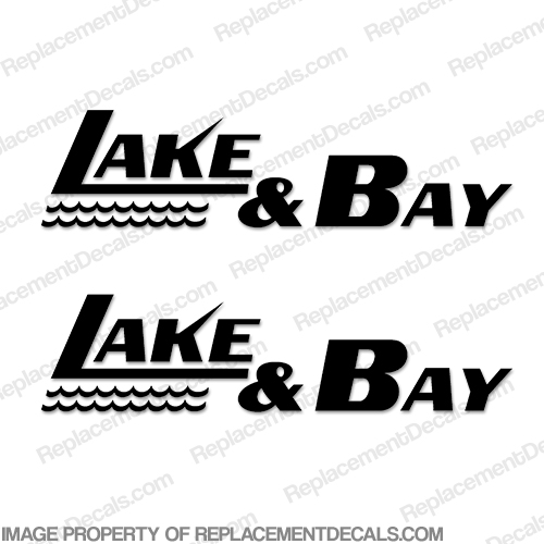 Lake & Bay Boat Logo Decals (Set of 2) - Any Color! lake and bay, lake, bay