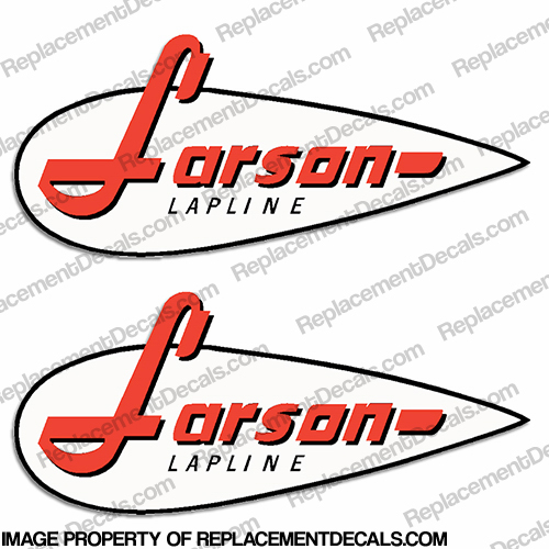 Larson Boat Logo Decal - (Set of 2) lapline,