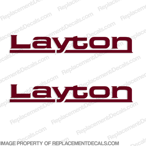 Layton by Skyline RV Decals - (Set of 2) Any Color!