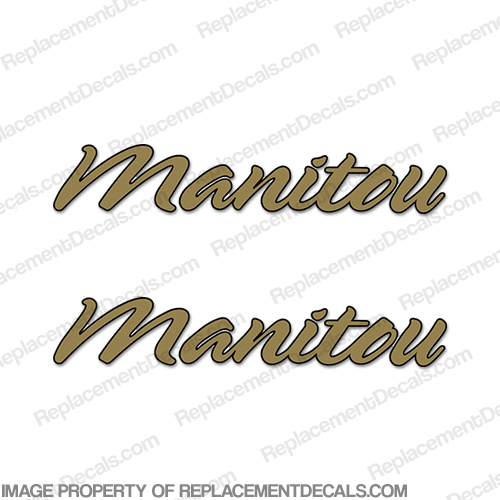 Manitou Boat Logo Decals (Set of 2) - 2 Color!