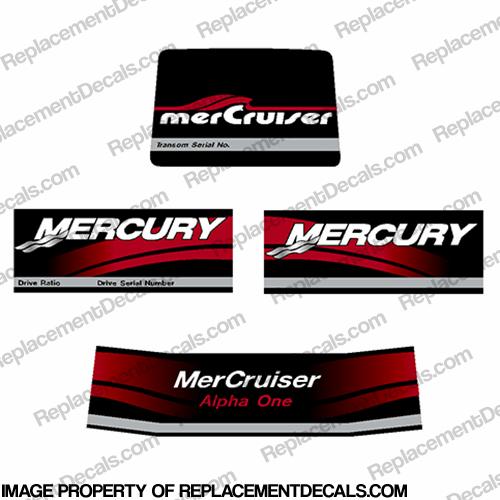 Mercruiser Alpha One Outdrive Decals