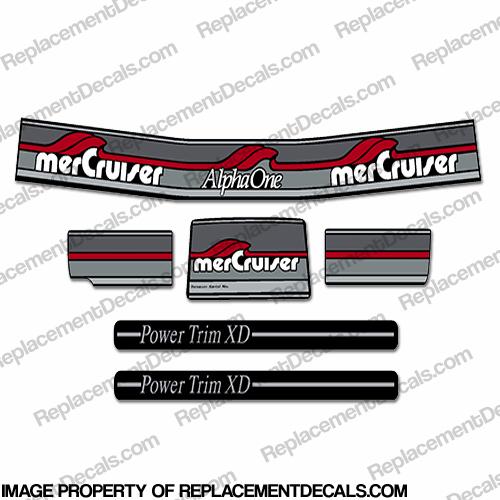 Mercury Alpha One  Outdrive Decal Kit   Mercruiser