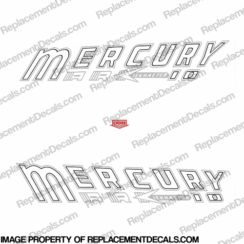Mercury 1957 10HP Mark 10 Outboard Engine Decals