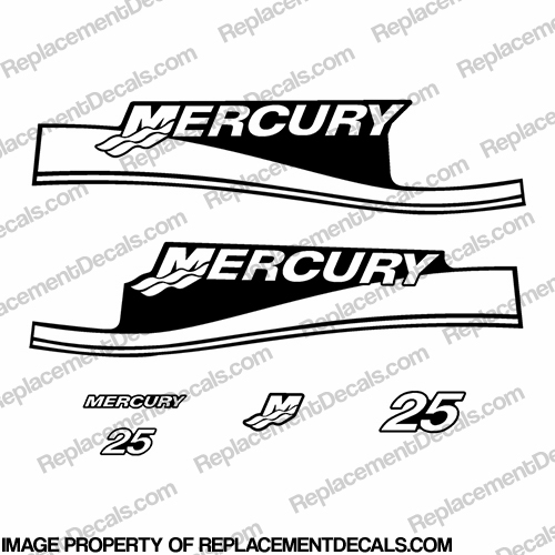 Mercury 25hp Decal Kit - Any Color!