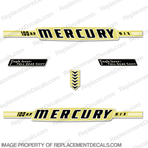 Mercury 1963 100HP Outboard Engine Decals