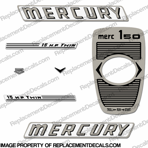 Mercury 1961 15HP Outboard Engine Decals