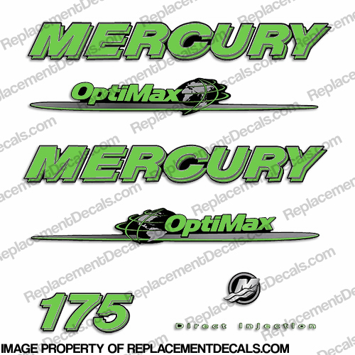 Mercury 07-08 175hp Optimax Decal Kit - Lime Green