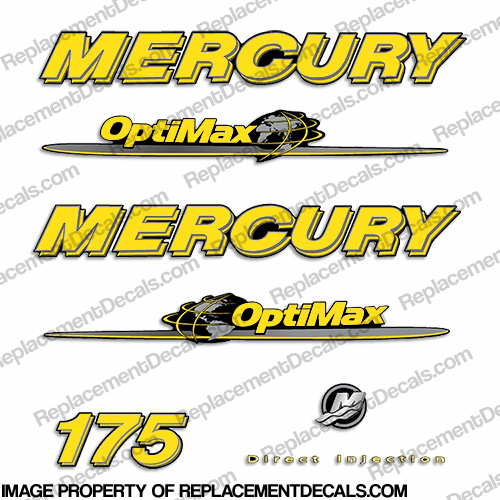 Mercury 07-08 175hp Optimax Decal Kit - Yellow