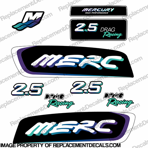 Mercury 115 Four 4 Stroke Decal Kit Outboard Engine Graphic Motor Merc TEAL