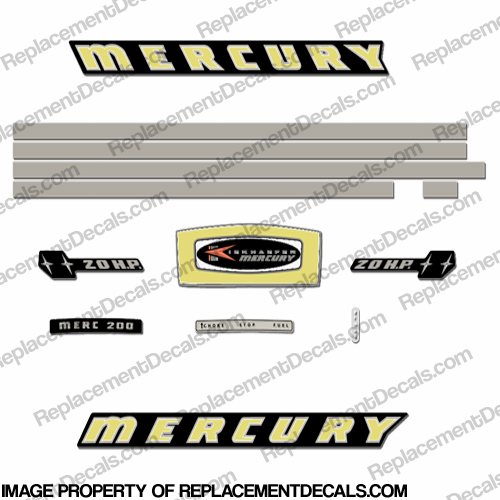 Mercury 1965 20HP Outboard Engine Decals