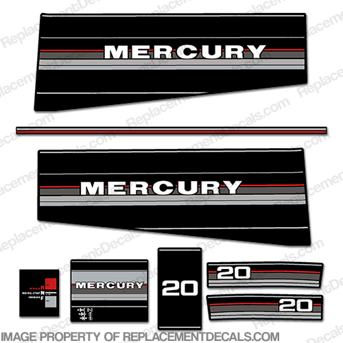 1986 1987 MERCURY 150 hp XR2 Outboard Decal