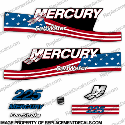 Mercury 225 Fourstroke Saltwater Decals - Flag
