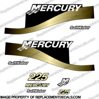 Mercury 225hp Salwater Decal Kit - Fighting Yellow!