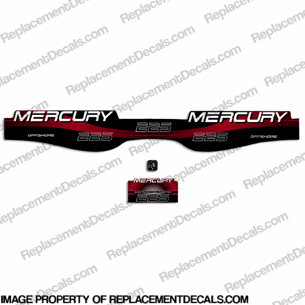 Mercury 225hp Offshore Decal Kit - Red