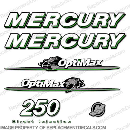Mercury 07-08 250hp Optimax Decal Kit - Green