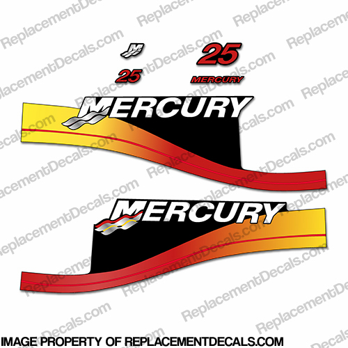 Mercury 25hp Decal Kit - Custom Fade!